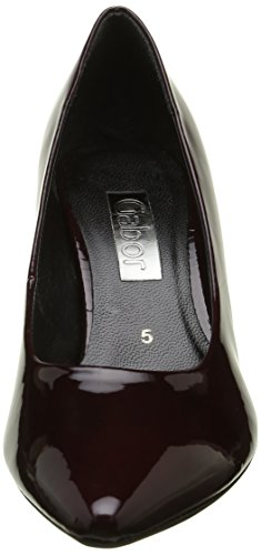 Gabor Shoes 51.280 Ladies Chiuso Pumps Rosso (merlot + Heel 71)