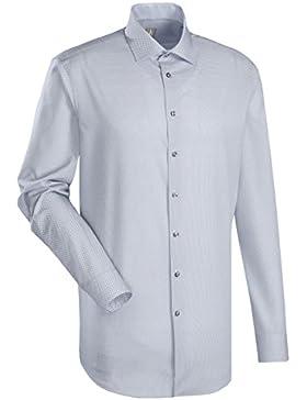 JACQUES BRITT Business Hemd Custom Fit 1/1-Arm Bügelleicht City-Hemd Kent-Kragen Manschette weitenverstellbar