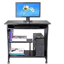Schreibtisch, Sondereu Computertisch Multifunktionale PC Tisch Bürotisch Für  Hause Office Weiß Schwarz ...
