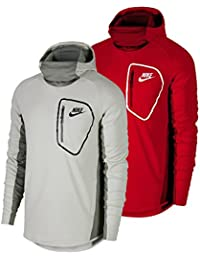 Nike Sportswear Advance 15Sudadera Forro Polar Po–Sudadera con capucha, hombre, Sportswear Advance 15 Hoodie Fleece PO, University Red/Unive, large