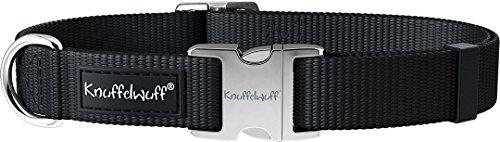 Knuffelwuff 13947-003 ALU Hundehalsband Active, Nylon, 25-40 cm, schwarz - 2