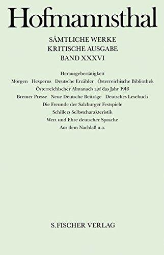 Herausgebertätigkeit (Hugo von Hofmannsthal, Kritische Ausgabe sämtlicher Werke in 38 Bänden)