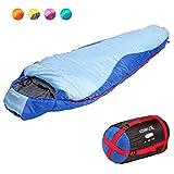 KeenFlex Sleeping Bag – 3 Season Warm Lightweight Compact Waterproof Advanced Heat Control