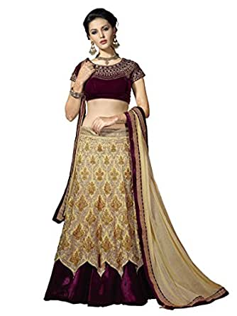 Touch Trends Golden Embroidered Lehenga Choli Free size Semi- Stitched Zardosi Handwork Perfect for Festivals And Weddings | Back to Your Roots in Style.