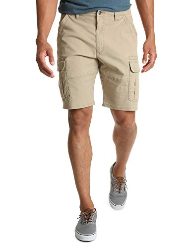 Wrangler Herren Classic Relaxed Fit Stretch Cargo Shorts, Grain Twill, 52 - Entspannt Wrangler