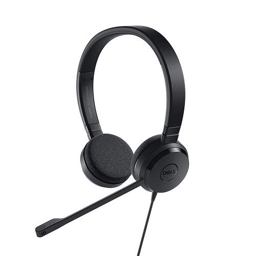 Dell UC150 Binaural Head-Band Black Headset - Headsets (PC/Gaming, Binaural, Head-Band, Black, in-line Control, Wired)