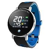 Deng Xuna Y6 Plus Smartwatch Fitness Armband mit Pulsmesser,Tracker Sport Uhr Fitness Uhr mit Schrittzähler,Schlaf Monitor,Stoppuhr,Call SMS Benachrichtigung Push (Blau)