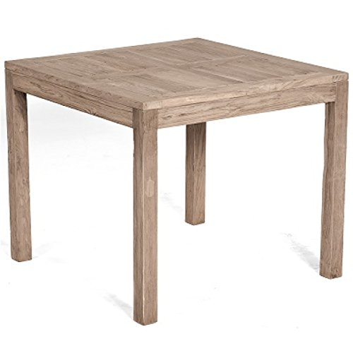 Sonnenpartner Gartentisch Wellington Old Teak grey washed 90 x 90 cm 80050738