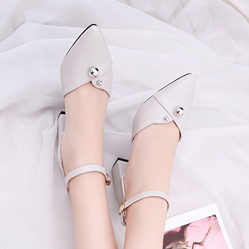 XY&GK Les femmes Sandales Femmes talons talons d'été et les chaussures de femmes White