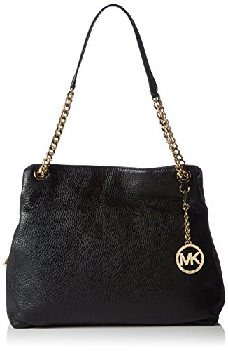 Michael KorsJet Set Chain Item Large Shoulder Tote - Borse a Tracolla Donna , Nero (Nero (Black 001)), 32x25x10 cm (B x H x T)