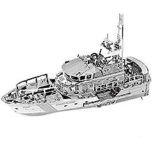 Maqueta de Metal Bote Salvavidas Life Boat DIY 3D metal puzzle laser cut models, Rompecabezas