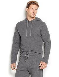 Polo Ralph Lauren Hommes / Garçons à Manches Longues En Tricot Gaufré Thermique Capuche Gris XL