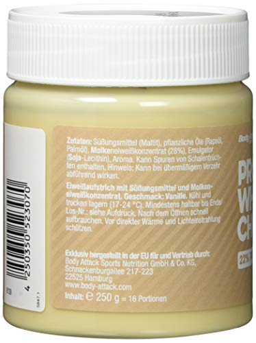 Body Attack Protein Choc, White Choc, 250 g - 4