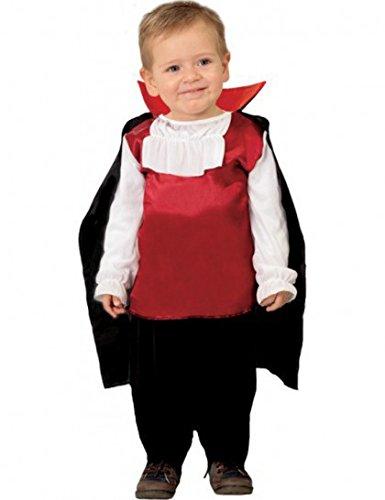 Costume vestito dracula baby halloween carnevale bambino taglia 1-2 anni