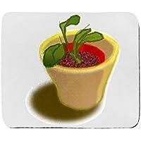 Tappetino per mouse rettangolo di pianta in due vasi
