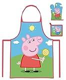 Peppa Wutz Pig 3 tlg. Küchen-Set Kochschürze, Ofenhandschuh & Topflappen