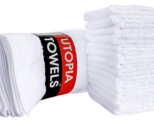 Utopia Towels - Waschlappen - 100{7d475e4d235bd9ac873b1b9050808fd3deb7a803c73dc044f49397f0a9166ed4} Baumwolle - Mehrzweck Waschlappen - Hoch absorbierend Extra weich für Gesicht, Hand, Gym & Spa (24 Stück, 30 x 30 cm)