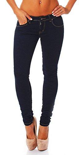 Jeans Donna Pantalone A Sigaretta Ragazzo Larghi Pantaloni 945 - blu scuro, XL