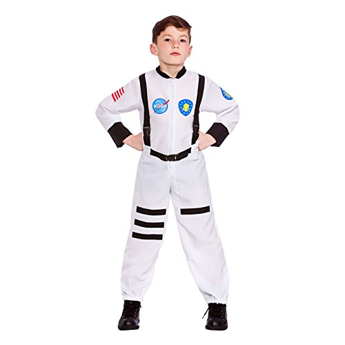 Boys Moon Mission Astronaut Fancy Dress Up Party Costume Halloween Child (Boy Kostüm Rocket)
