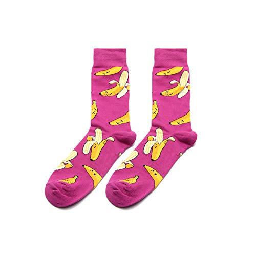 WAESRD Socke Socken-Frauen-Frucht-Bananen-Männliche Socken-Rochen-Schuh