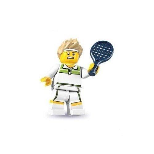 LEGO Minifigur aus Serie 7 - männlicher Tennis-Spieler. (Tennis-spieler)