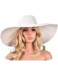 Sombreros de ala grande para el sol, 18 cm, pajita de papel, sombreros de verano para mujer, protección UV, disquete, playa, sombreros, vestido de…
