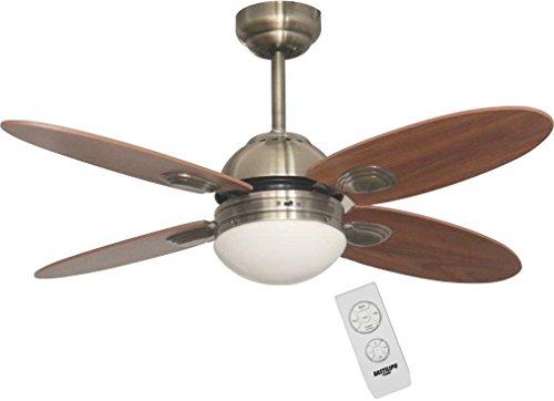 Bastilipo ventilatore soffitto con telecomando e27 60 w bronzo
