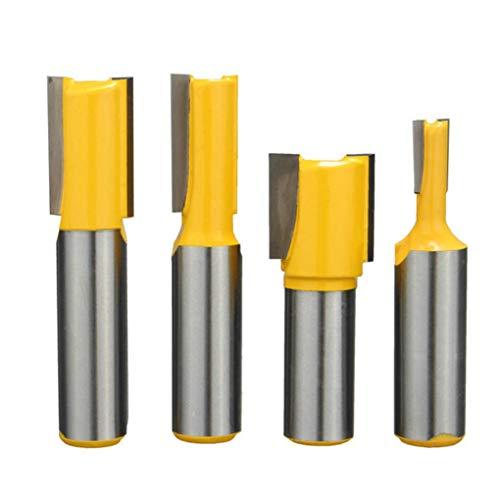 Yongse 4pcs 1/2 Zoll Schaft Untermaß Dado Door Router Bits Set Two Flutes Woodworking Cutter - Dado Cutter