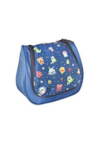 Grüezi-Bag Kinder Kulturtasche Washbag Kids Monster, im Monster Design, 20 x 20 x 6 cm