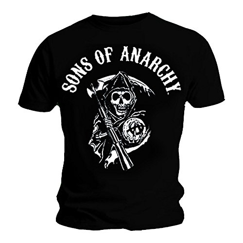 Official T Shirt SONS OF ANARCHY Black CLASSIC LOGO XXL