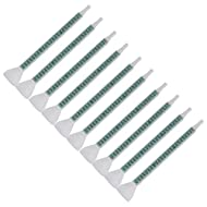 CNBTR 1.5mm Dia Plastic FMC06-24 Green Bell Mouth Static Mixer Mixing Nozzle for Adhesive Gun Dispenser Pack of 10