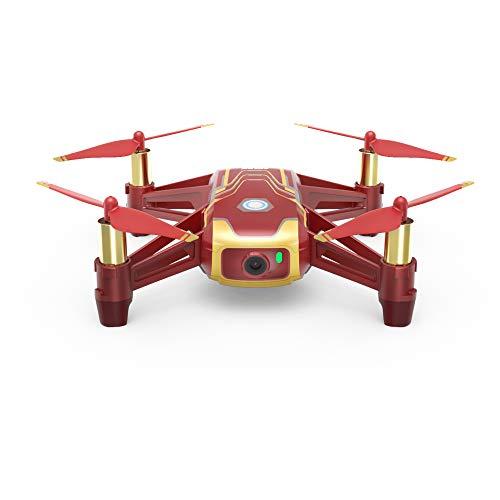 Ryze DJI Tello Iron Man Edition - Mini-Drohne ideal für Kurze Videos mit EZ-Shots, VR-Brillen und Gamecontrollern kompatibilität, 720p HD-Übertragung und 100 Meter Reichweite