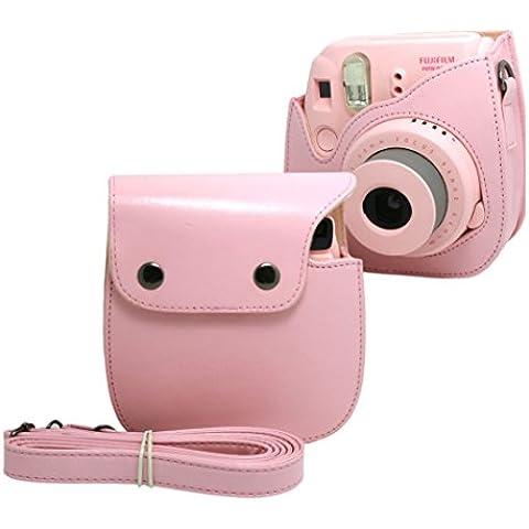 EchoAcc® PU Cuero sintético de Bolsa para Fujifilm Instax Mini 8 cámara - Rosa