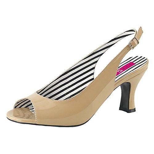Heels-Perfect - Scarpe da Ginnastica Basse Donna Beige (Beige)