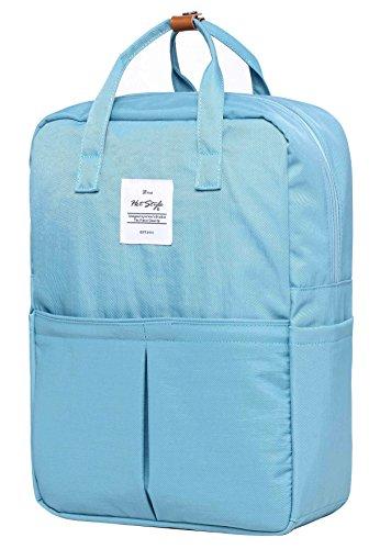992s Minimalistisch Schule Rucksack Reiserucksack | 40x29x13cm | Hält 15,6-Zoll Lapto | Aqua (Bag Junior Handtaschen Army)