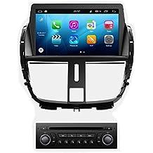 roverone Android Sistema 7 Inch Autoradio GPS para PEUGEOT 207 con navegación Radio estéreo DVD Bluetooth