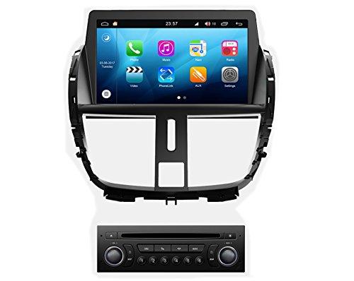 roverone Android Sistema 7Inch Autoradio GPS para PEUGEOT 207con navegación Radio estéreo...