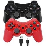 • Dskop 2 Packs Wireless Bluetooth controller remote Gamepad Joystick Für PS3 Playstation 3 Double Shock 6-Achsen mit USB-Ladekabel