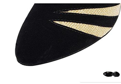 Meijili - Scarpe con plateau donna Black/champagne