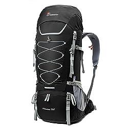 Trekkingrucksack Kapazität: 1.Frontschlafsack Fach mit Trennwand 2.Es gibt 1 großes Mittelfach,1 Hydratationsfach,2 Hüftgürteltaschen, 1 Deckeltaschen, 1 Regenabdeckung (in der unteren Tasche) und 2 seitliche Netztaschen 3.Hauptfach mittig unterteilt...