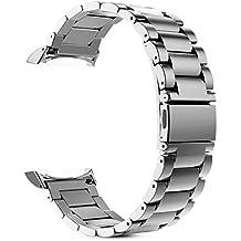 Fintie Gear S2 Bracelet, Bracelet de montre en acier inoxydable Wristband Montre Strap Remplacement avec Métal Fermoir pour Samsung Gear S2 SM-R720 / SM-R730 Smart Watch (Non adapté à Gear S2 Classic), Argent