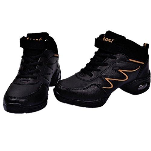 Tmkoo Nouvelles Chaussures De Danse En Cuir Souple Pour Femmes À La Fin Des Chaussures De Danse Pour Femmes Chaussures Carrées Et Noires