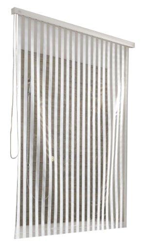 Duschrollo für Kleine Wolke-Leerkassette, 128 x 240 cm, weiß mit Streifen thumbnail