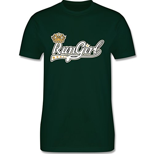 Laufsport - Run Girl Krone - Herren Premium T-Shirt Dunkelgrün