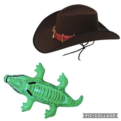 Seemeinthat Erwachsene Kostüm Krokodil Dundee Party Australien Tag Buch Woche aufblasbar Kroko