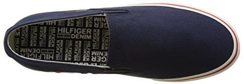 Tommy Hilfiger Herren V2385ic 3d Low-Top Blau (Ink 006)