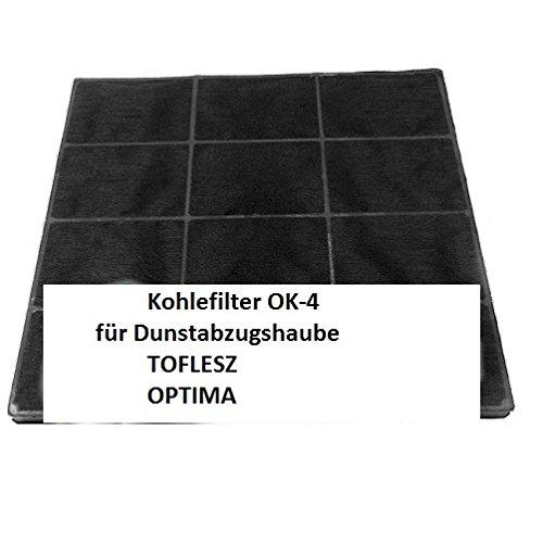 Carbonfilter / Kohlefilter für Dunstabzugshaube TOFLESZ Ok-4/60/90 Elegant, Pryzma, Clasic, Etna, OPTIMA 6LASC, Cristal 6LASS - Dunstabzugshaubenzubehör