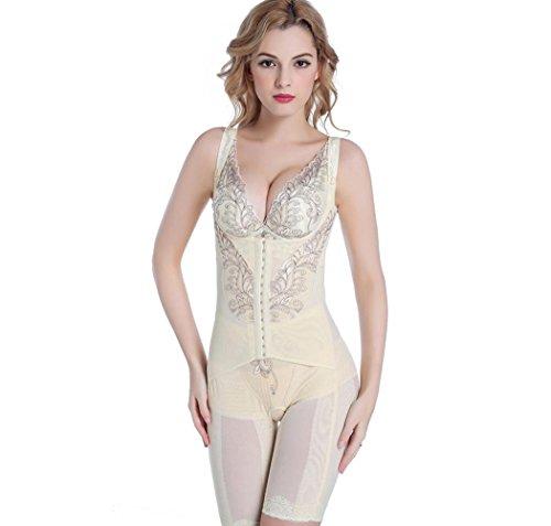 XIONGMEOW Frauen Magie Pelelith Shapewear Postpartale Butt Lifter Nahtlose Körperformer Bauch Control Korsett Bodysuit Größe M-4XL , white , l (Spanx-nylon-strumpfhosen)