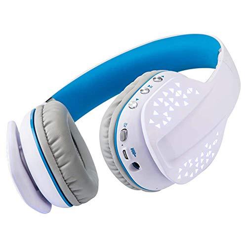 A-Nice Cuffie con Microfono a cancellazione di Rumore Attivo Cuffie Bluetooth Cuffie Senza Fili con Microfono, 30h Subwoofer Bluetooth 4.1 Cuffie Pieghevoli per Viaggi/Lavoro (Colore : Bianca)