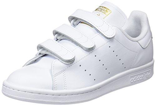 Adidas Stan Smith - Basket Mode - Homme , Blanc Cassé (Ftwr White/Ftwr White/Gold Met.), 37 1/3 EU